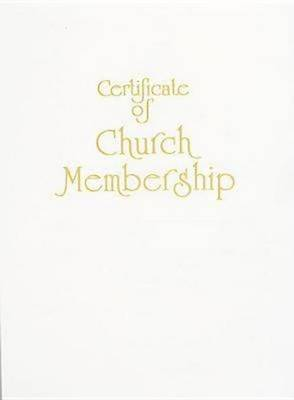 Contemporary Steel-Engraved Church Membership Certificate