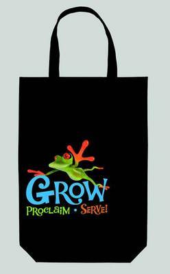 Grow, Proclaim, Serve! Recyclable Bag (Black W/Grow LOGO): Grow Your Faith by Leaps and Bounds