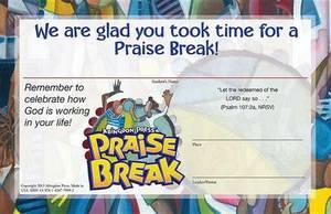 Vacation Bible School (Vbs) 2014 Praise Break Student Certificates (Pkg of 25): Celebrating the Works of God!