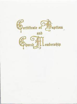 Traditional Steel-Engraved Baptism and Church Membership Certificate