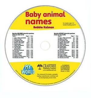 Baby Animal Names - CD Only
