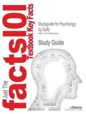 Studyguide for Psychology by Duffy, ISBN 9780072861495