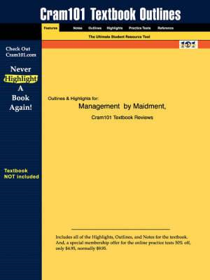 Studyguide for Management by Maidment, ISBN 9780072874419