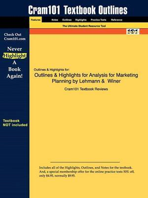 Outlines & Highlights for Analysis for Marketing Planning by Lehmann & Winer