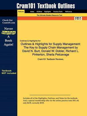 Outlines & Highlights for Supply Management  : The Key to Supply Chain Management by David N. Burt, Donald W. Dobler, Richard L. Pinkerton, Sheila Petcavage