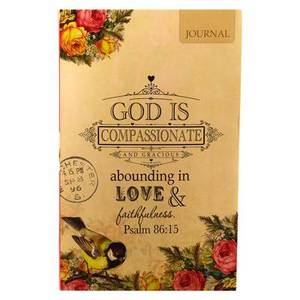 Vintage God Is Compassionate Flexi Journal