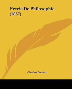 Precis De Philosophie (1857)