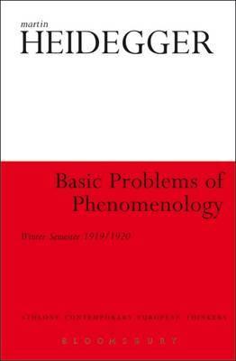 Basic Problems of Phenomenology: Winter Semester 1919/1920