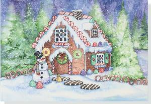 Mini Boxed Christmas Cards: Gingerbread House