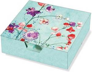 Fuchsia Blooms Boxed Desk Notes