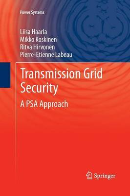 Transmission Grid Security: A PSA Approach: 2011