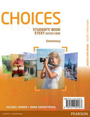 Choices Elementary EText Students Book Access Card