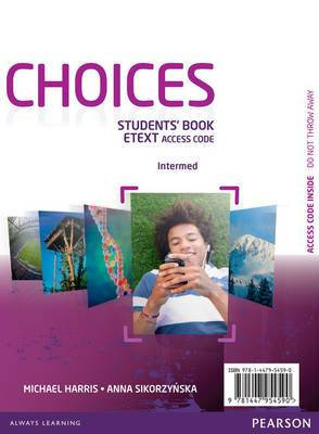 Choices Intermediate EText Students Book Access Card