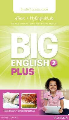 Big English Plus 2 Pupil's Etext and MyEnglishLab Access Card