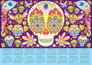 2016 Sugar Skulls 16-Month Calendar Poster