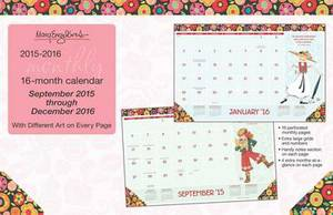 Mary Engelbreit 2015-2016 Desk Pad Calendar