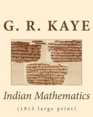 Indian Mathematics: (1915 Large Print)