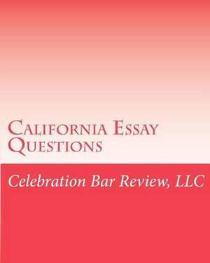 California Essay Questions Book