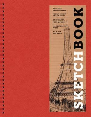 Sketchbook (Basic Large Spiral Red)