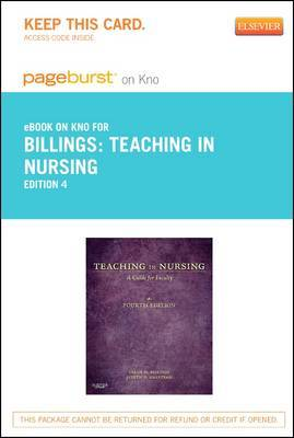 Teaching in Nursing - Elsevier eBook on Intel Education Study (Retail Access Card): A Guide for Faculty