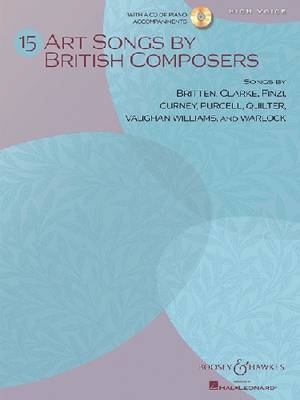 15 Art Songs by British Composers: High Voice, Book/CD