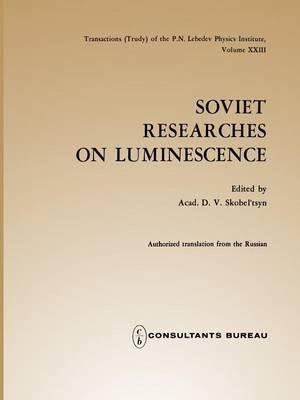 Soviet Researches on Luminescence