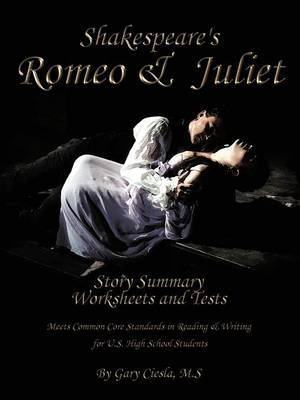 Romeo & Juliet Fill-in-the-Blank Story Summary Worksheets and Tests