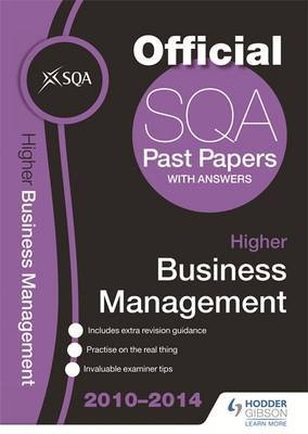 SQA Past Papers 2014-2015 Higher Business Management
