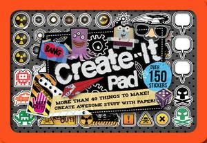 Create-it Pad - Make Over 40 Awesome Things with Paper, in a Cool Mini Tin with 150 Stickers