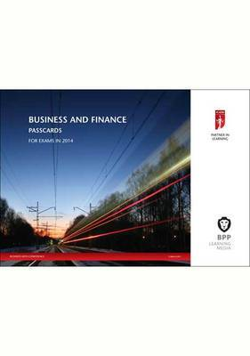 ICAEW Business and Finance: Passcards: 2014