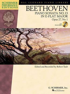 Ludwig Van Beethoven: Piano Sonata No.13 In E Flat Op.27 No.1 'Quasi Fantasia' (Schirmer Performance Edition)