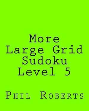 More Large Grid Sudoku Level 5: Medium to Moderate Sudoku Puzzles