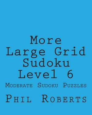 More Large Grid Sudoku Level 6: Moderate Sudoku Puzzles