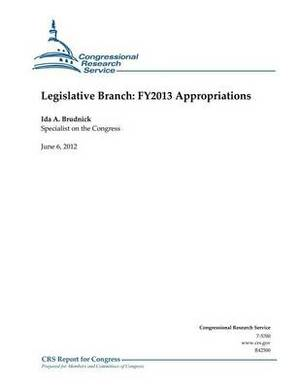 Legislative Branch: Fy2013 Appropriations