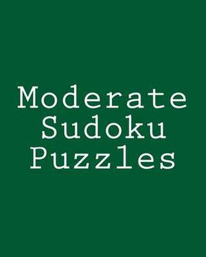 Moderate Sudoku Puzzles: Challenging, Large Print Puzzles