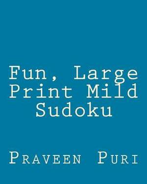 Fun, Large Print Mild Sudoku: Easy to Read, Large Grid Puzzles