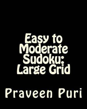 Easy to Moderate Sudoku: Large Grid: Fun and Logical Sudoku