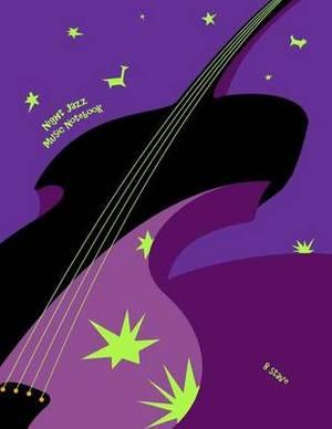 Night Jazz Music Notebook: 8 Stave