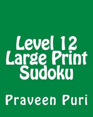Level 12 Large Print Sudoku: 80 Easy to Read, Large Print Sudoku Puzzles