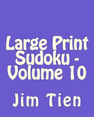 Large Print Sudoku - Volume 10: Fun, Large Print Sudoku Puzzles