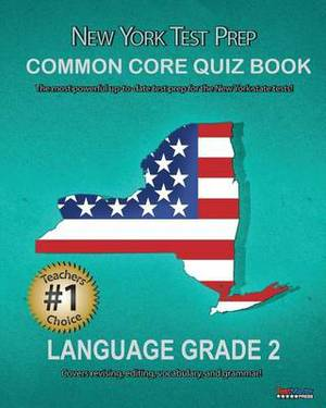 New York Test Prep Common Core Quiz Book Language Grade 2