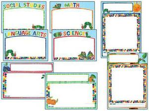 The Very Hungry Caterpillar(tm) 45th Anniversary Bulletin Board Set: Common Core Charts