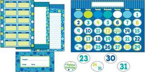 Bubbly Blues Bulletin Board Set