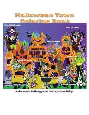 Halloween Town Coloring Book