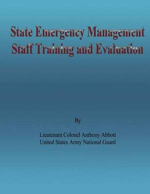 State Emergency Management Staff Training and Evaluation
