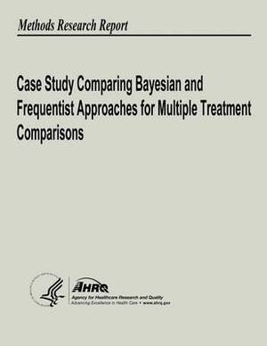 Case Study Comparing Bayesian and Frequentist Approaches for Multiple Treatment Comparisons