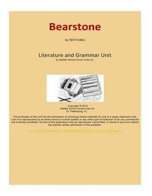 Bearstone: A Complete Literature and Grammar Unit for Grades 4-8
