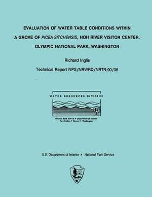 Evaluation of Water Table Conditions Within a Grove of Picea Sitchensis, Hoh River Visitor Center, Olympic National Park, Washington