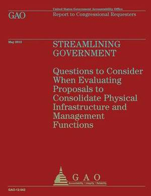 Streamlining Government: Questions to Consider When Evaluating Proposals to Consolidate Physical Infrastructure and Management Functions