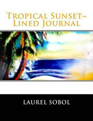 Tropical Sunset Lined Journal